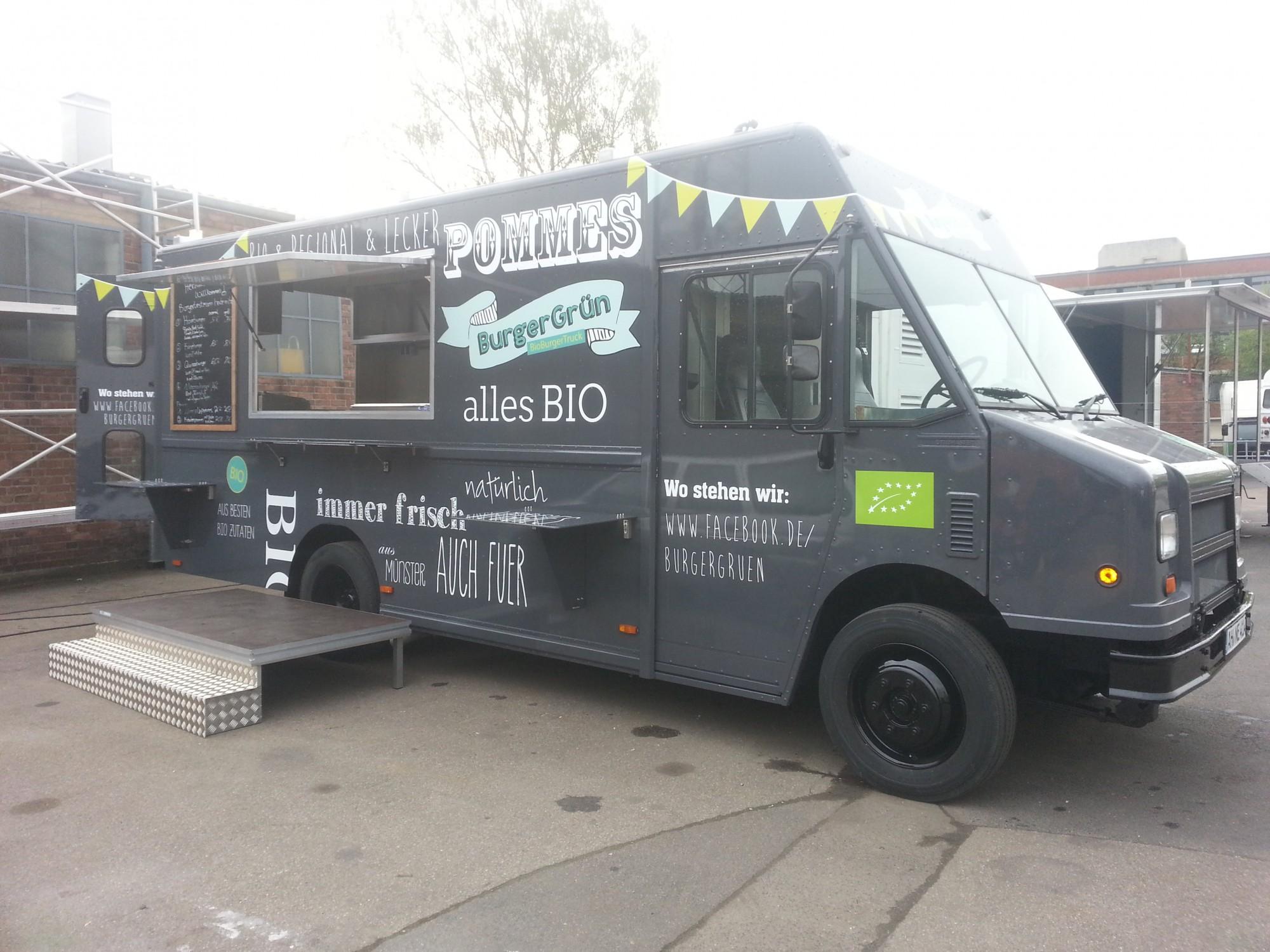 burger gr n food truck eventmobile online k ln. Black Bedroom Furniture Sets. Home Design Ideas